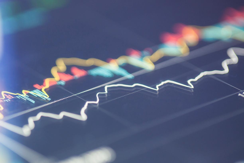 Close up of line graphs