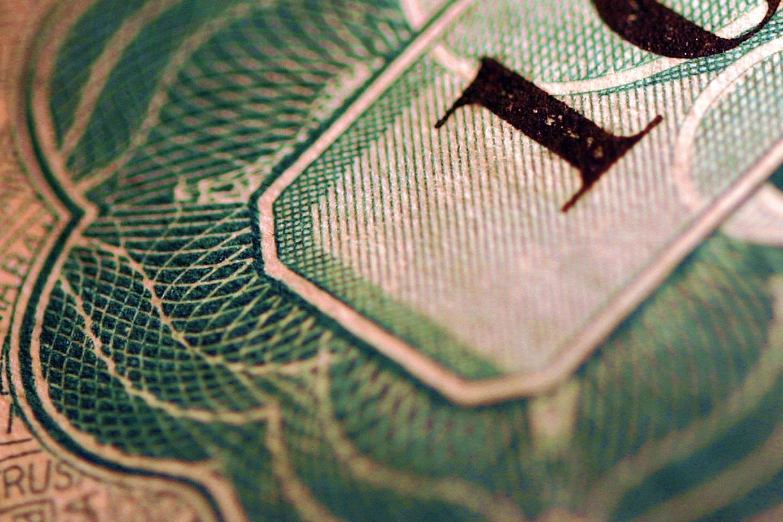 Macro shot of stock or bond certificate