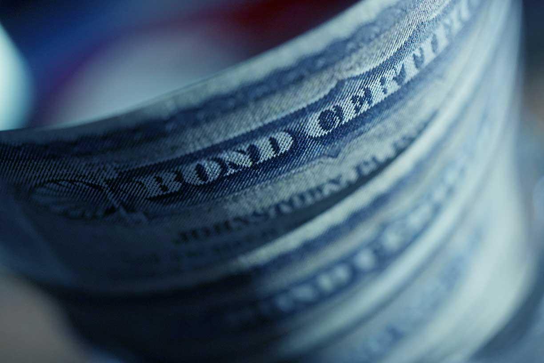 Close up of bond certificates