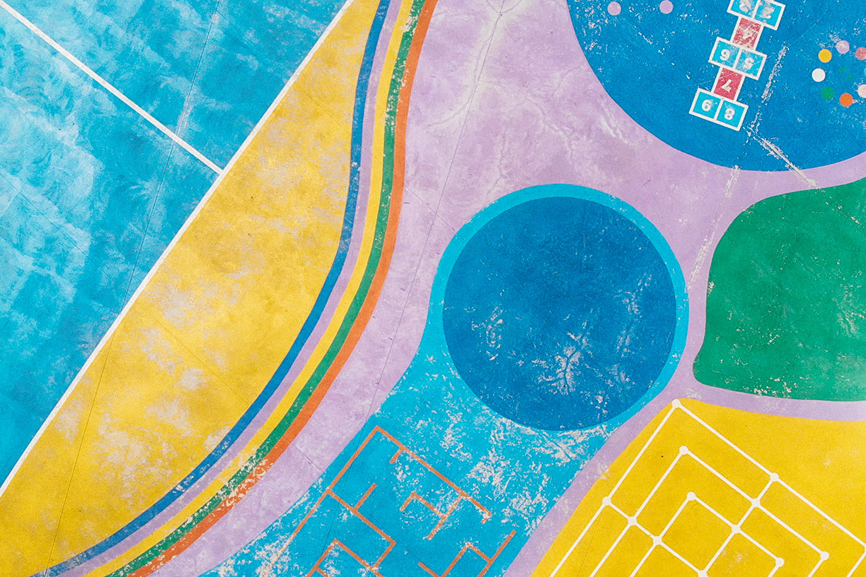Colorful abstract playground