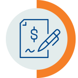 financial literacy document with pen icon