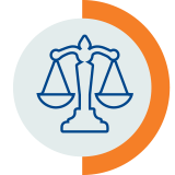 legal scales tolerance icon