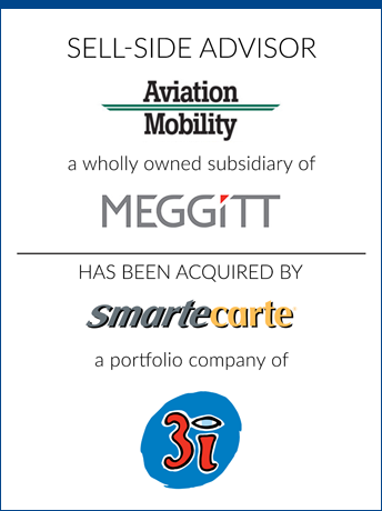 tombstone - sell-side transaction Aviation Mobility LLC and MEGGITT an smartecarte logo 2018