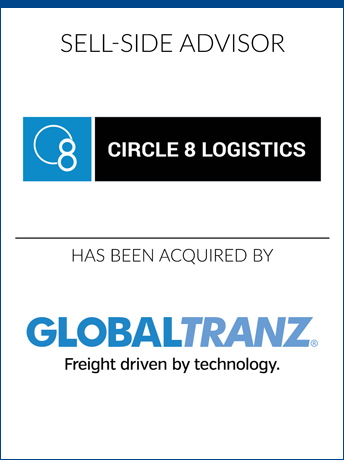 tombstone - sell-side transaction Circle 8 Logistics Inc and Globaltranz logo 2019