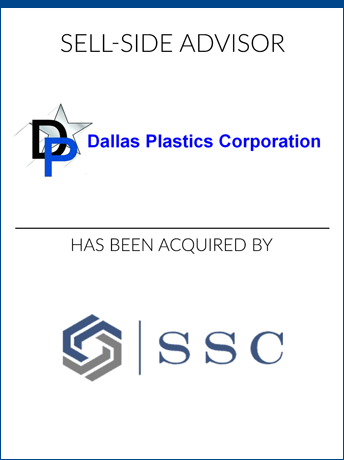 tombstone - sell-side transaction Dallas Plastics Sole Source Capital logo