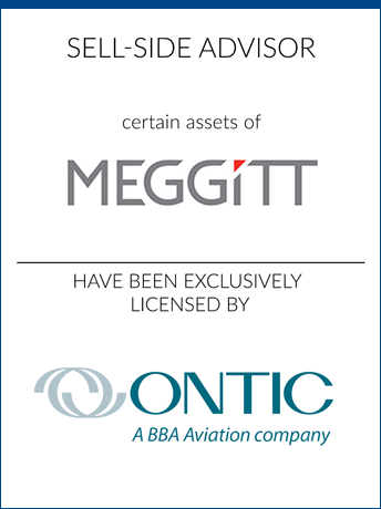 tombstone - sell-side transaction Meggitt PLC and Ontic logo 2019