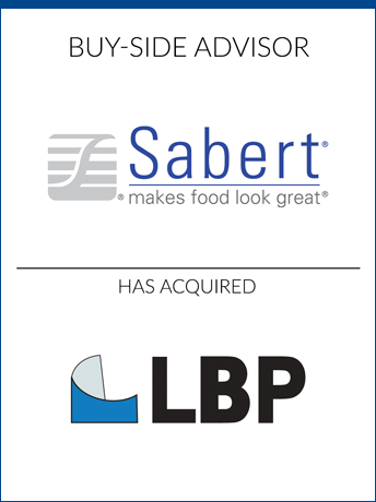 tombstone - buy-side transaction Sabert Corporation and LBP logo 2019