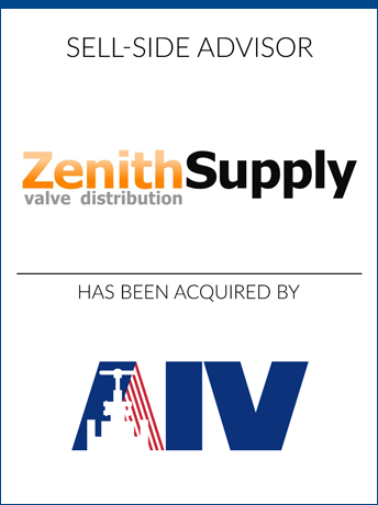 tombstone - sell-side transaction Zenith Supply