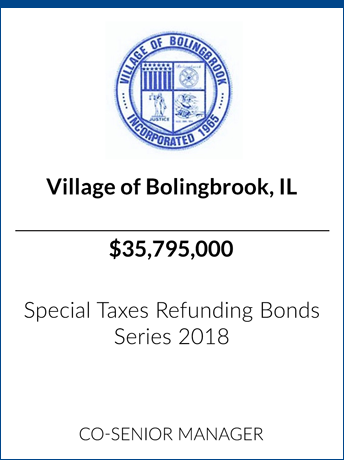 tombstone - transaction Village of Bollingbrook IL logo