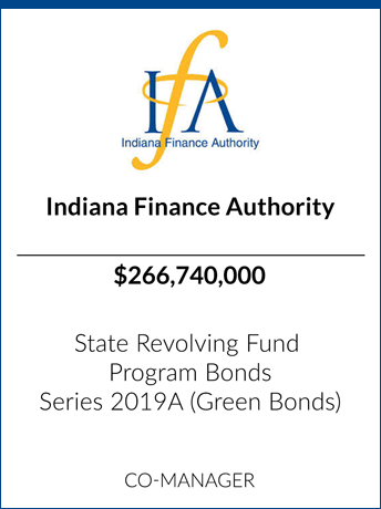 tombstone - transaction Indiana Finance Authority logo