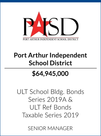 tombstone - transaction Port Arthur Independent School District logo