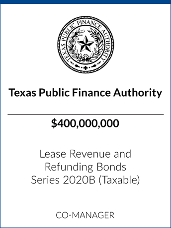 tombstone - transaction Texas Public Finance Authority logo