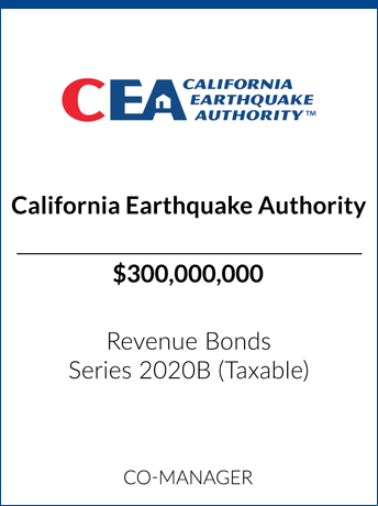 tombstone - transaction California Earthquake Authority logo