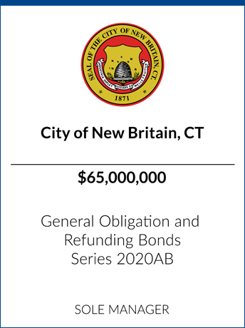 tombstone - transaction City of New Britain CT logo series 2020AB
