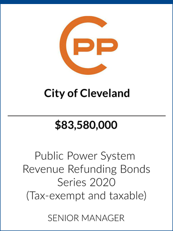 tombstone - transaction Cleveland Public Power logo