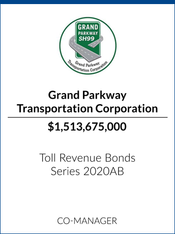 tombstone - transaction Grand Parkway Transportation Corporation logo