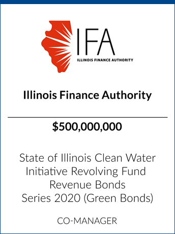 tombstone - transaction Illinois Finance Authority logo
