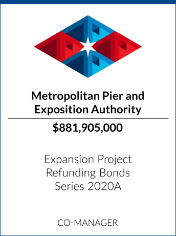 tombstone - transaction Metropolitan Pier and Exposition Authority logo