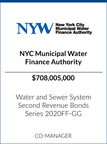 tombstone - transaction NYC Municipal Water Finance Authority logo